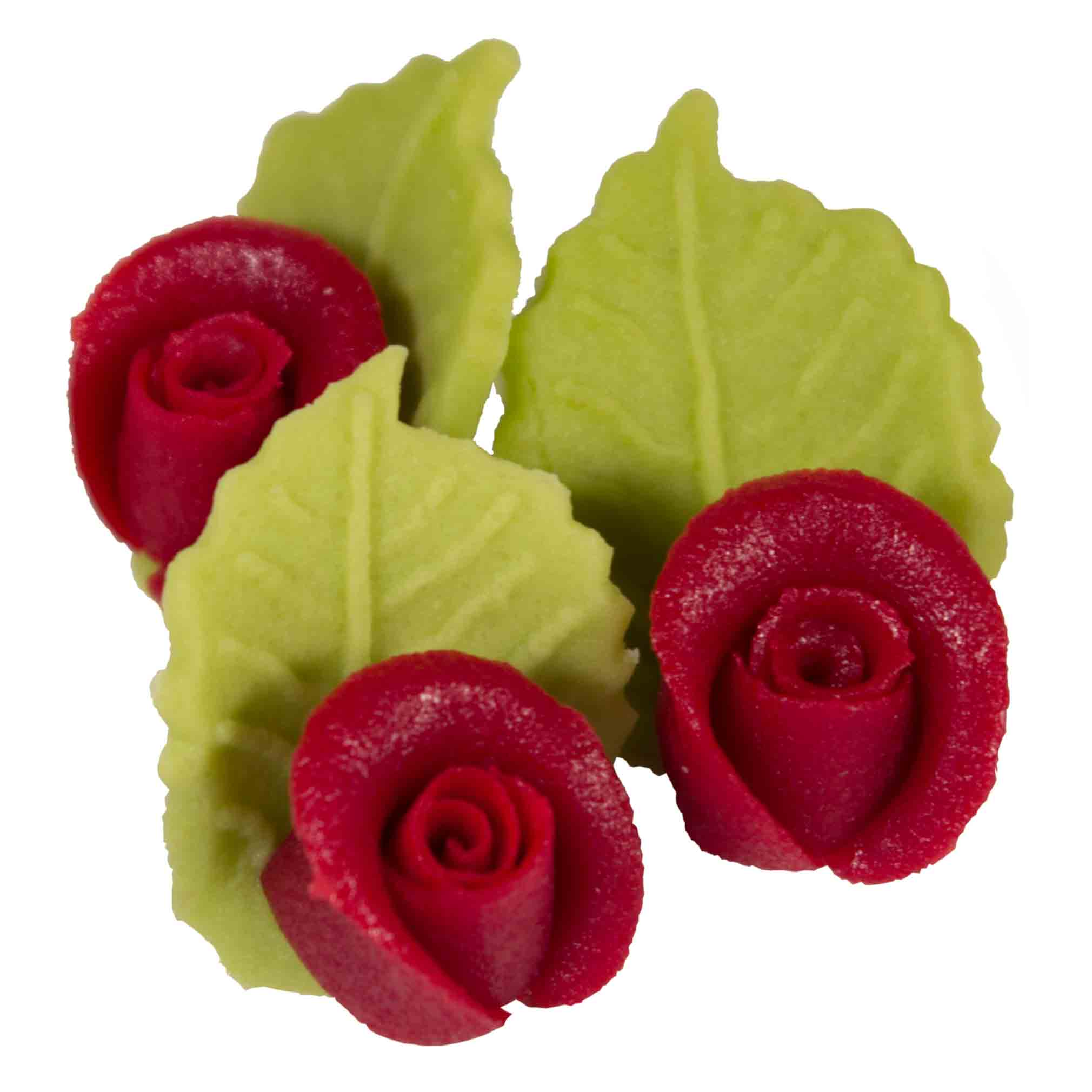 Mini rose marzipan red