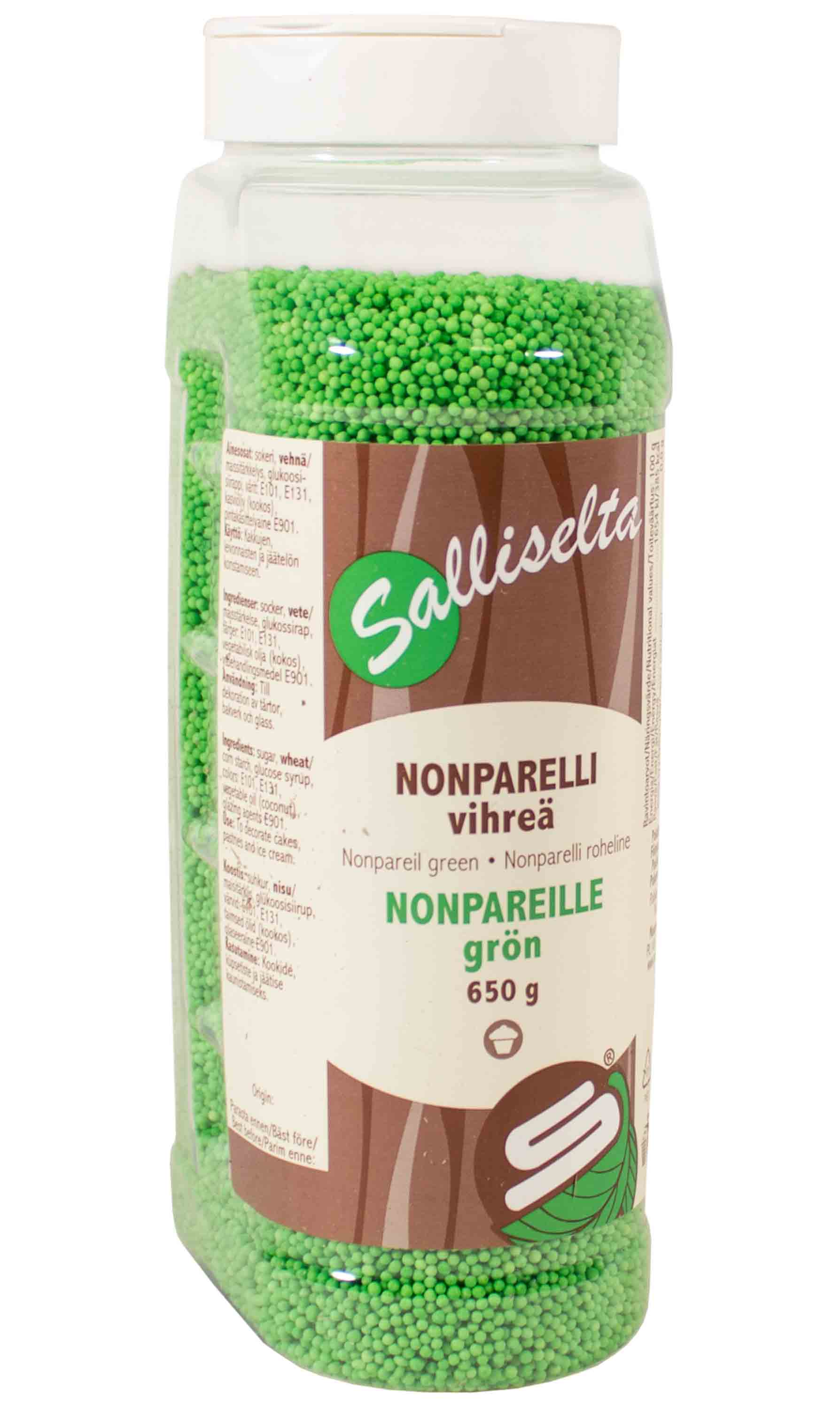 Nonpareils green 650 g