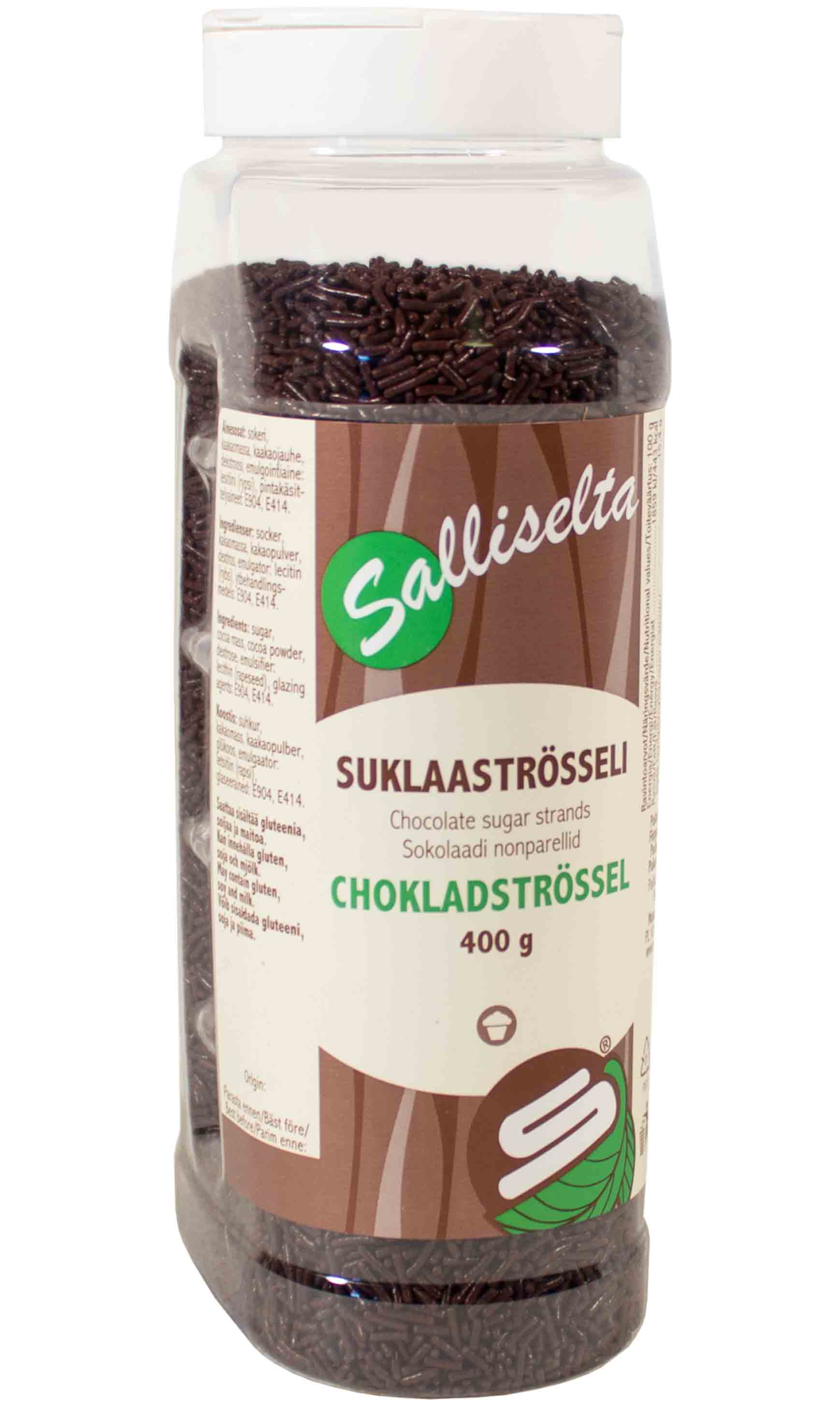 Chocolate sugar strands 400g