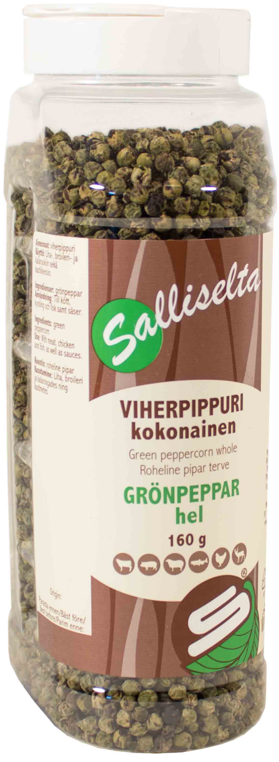 Green peppercorn whole 160g